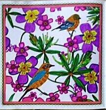 Le jardin en fête.  Coloriage de Nini