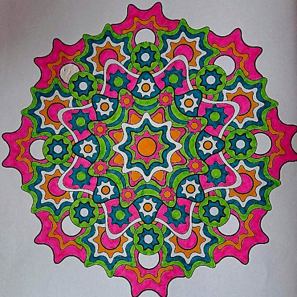 Mandala fun. Coloriage de Lauryne