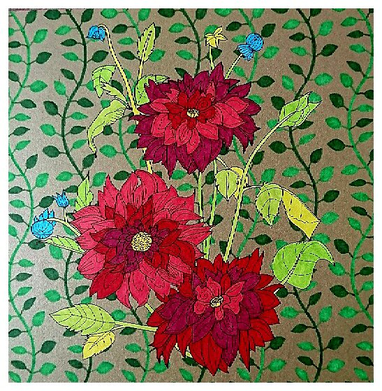 Fleurs exquises.  Coloriage de Lauryne