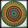 Carnet de Mandalas. Coloriage de Ticia