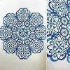 Carnet de Mandalas. Coloriage de Lauryne.