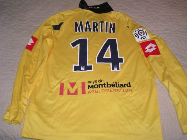 MAILLOT PREPARE N° 14 M.MARTIN ......GRAND MERCI A PIERRE,FREDO,SALIMA,JOCELYNE...