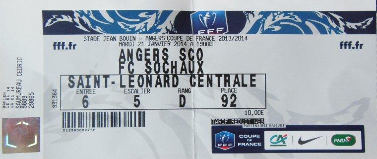 21/01/2014 COUPE DE FRANCE ANGERS-FCSM N°18 P.CROS (merci Pierrick)