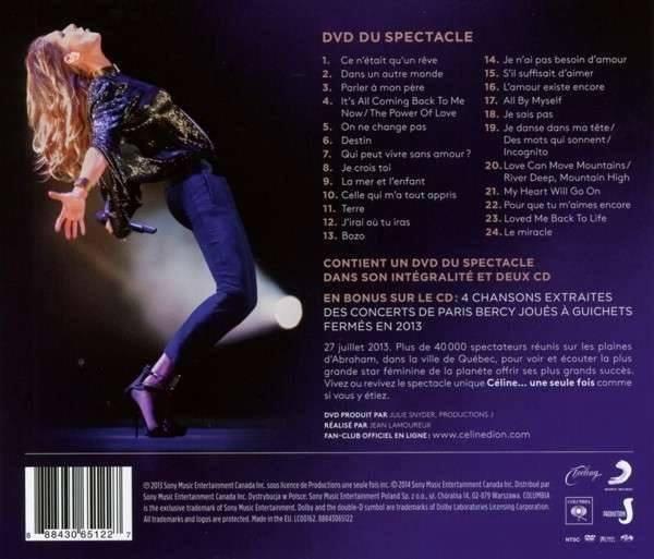 Céline Une Seule Fois/Live 2013 DVD/2CD (Maintenant en Magasin)