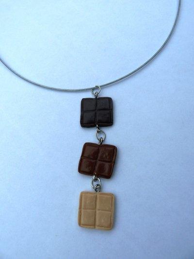 Collier 3 Chocolats