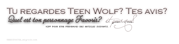 TEEN WOLF - Your one and only source about Crystal Reed.