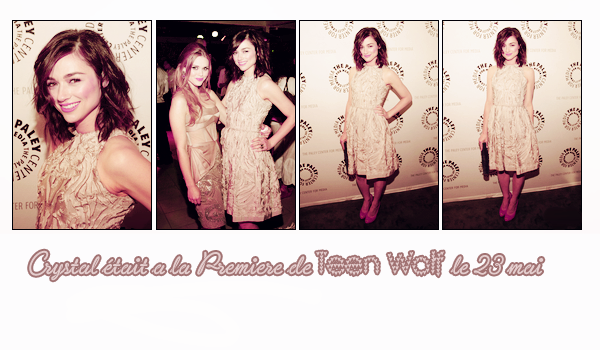 CRYSTAL REED - 23.05.2012 - Your one and only source about Crystal Reed.