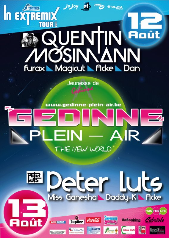 LINE UP GEDINNE 2011