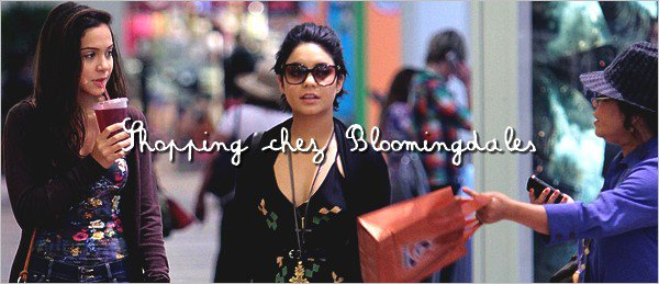 . 25 Juillet 2011: Vanessa et Stella font du shopping chez Bloomingdales .