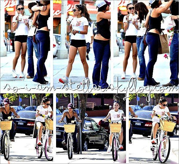 . 2 Octobre 2011: Vanessa et Stella font une ballade à bicyclette .