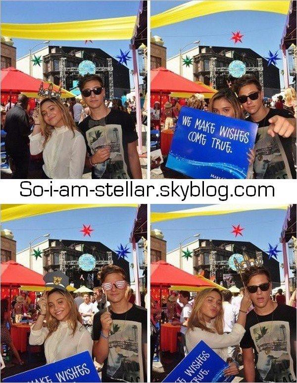. 15.09.12 : Stella a accompagné sa soeur aux Variety's Power of Youth awards où Vanessa a été récompensée pour son travail avec la fondation Make-A-Wish.  .