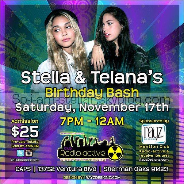 . Préparez vous a avoir plein de nouvelles photos car Stella va fêter son anniversaire DEMAIN avec Telana ;)  .