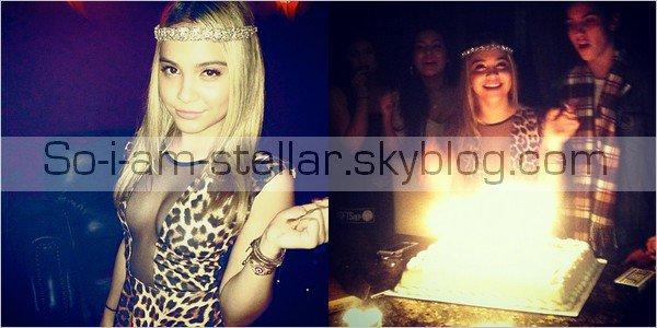 . En attendant la fête qui doit se préparer... Je vous postes des photos de Stella fêtant son anniversaire chez sa soeur avec des amis comme Kylie jenner ou encore Jaden smith, l'ex de Stella ;)  .