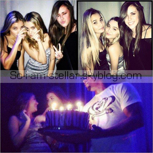 . 17.11.12 : Après avoir fêter son anniversaire dans un restaurant, puis chez sa soeur... Stella le fête dans un club ;) .