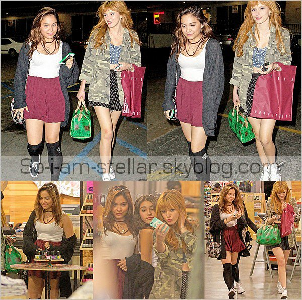 . 11.03.2013 : Urban Outfitters avec Bella Thorne (Shake It Up) .