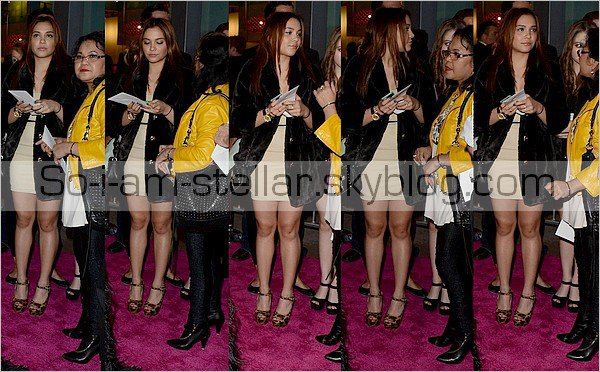. 14.03.2013 : Spring Breaker premiere with Gina, Vanessa, Sammi and Bella ! .