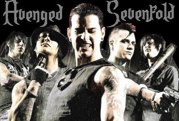 ______G-r-o-u-p-e-:_____Avenged Sevenfold, un groupe de Heavy Metal américain.- Il est composé de 4 membres (M.Shadows, Synyster Gates, Zacky Vengeance et Johnny Christ) et a été fondé à Huntington Beach en Californie (U.S.A) en 1999. Le nom du groupe est souvent abrégé en A7X. Depuis ils sont toujours actifs avec 2 démos, 2 E.P, 5 albums, 2 DVD live. Je suis totalement amoureuse de ce groupe depuis 1an et demi, 2ans. Je les avais découverts en regardant des vidéos d'autres groupe et je suis tombé sur eux et ensuite je les ai vu sur RockBand aussi. Et moi étant une batteuse, la mort de The Rev m'avait beaucoup attristée, c'était un de mes modèles en batteurs. R.I.P <3 J'aime leurs musiques, les paroles, les solos, chaques instruments, les lives, leurs délires, leurs amitiés, leurs histoires, leurs monde... tout!