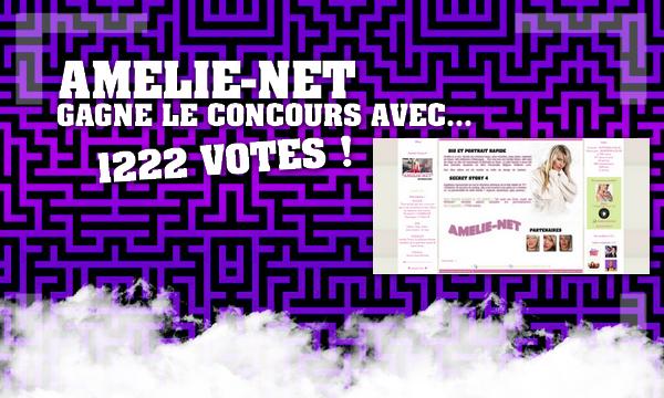 Amelie-Net gagne le grand concours !