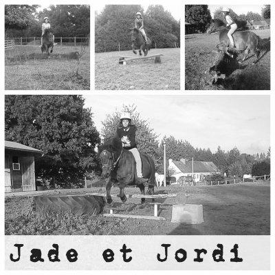 ♥ Ma petite soeur (Jade) et son poney (Jordi) ♥