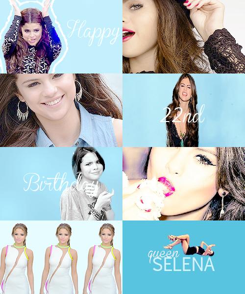 Aujourd'hui, nous souhaitons un joyeux 22e anniversaire à Selena !