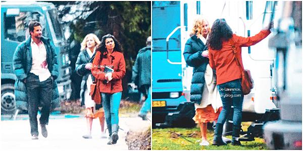 """6/7 AVRIL: Jen Lawrence a été photographiée en République Tchèque sur le tournage de son film """"Serena""""."""