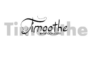 Blog de Timoothe