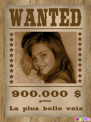 WANTED on racherche la magnifique Caroline Costa si tu la trouve tu gagnera 900.000$ pour la plus belle voix ♥