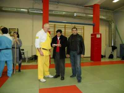 President of Wushu Federation in Belgium Roland QUENON And Grand Master Dr, ChiuChiLing And SiFu Said Belabed