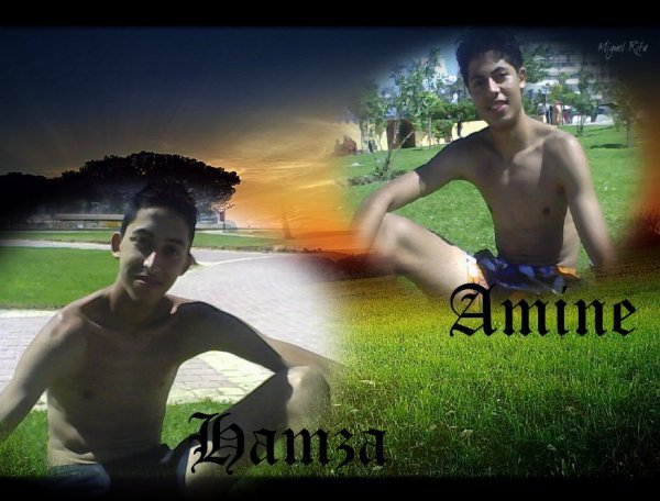 ME and AMINE in TNAGER in SUMMER 2010
