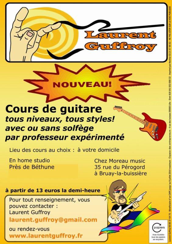 Cours de guitare tous niveaux, tous styles