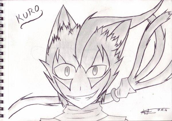 Dessin : Kuro humain... (enfin presque)