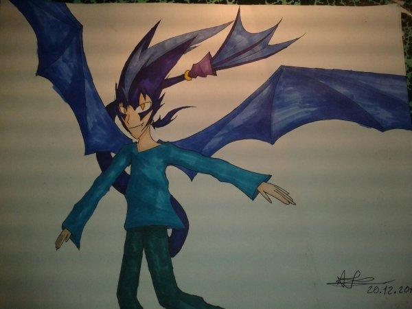 Dessin : Kuro en homme dragon