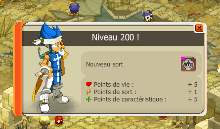 up lvl 200 en arene