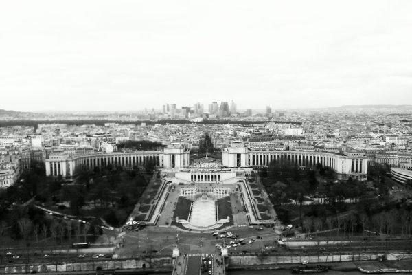 Paris en haut de la tour effeil :3
