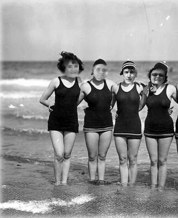 Une bonne baignade en mer les filles merci Cuicui Juda et ses filles