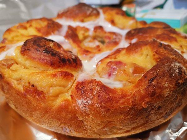 Gâteau fait par Maman pour Pâques Brioche crème patissière et fruits confits