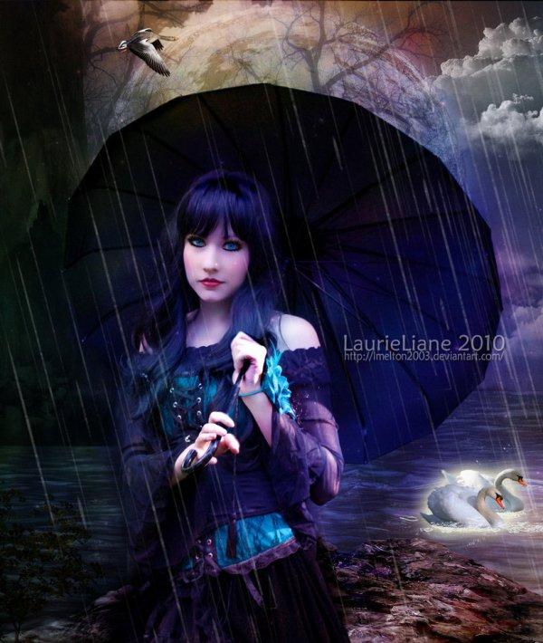 تحت الامطار
