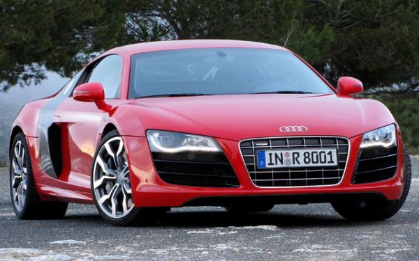 Belle Audi R8 rouge