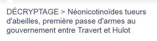 01328 - Néonicotinoïdes