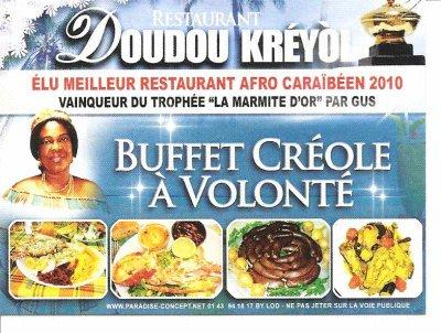Bienvenue dans l'univers du restaurant DOUDOU KREYOL