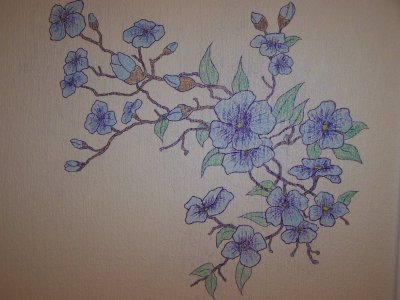Dessin fleurs 2 couleurs artstattooraph - Dessin de fleur en couleur ...