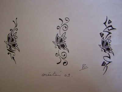 Dessin Papilloncréation1 Artstattooraph