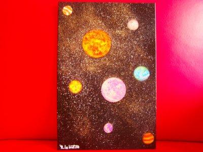 Peinture Numéro 13 sur toile....L'espace.