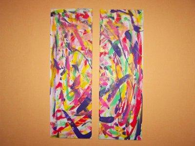 Peinture Numéro 14....Double Abstraite...