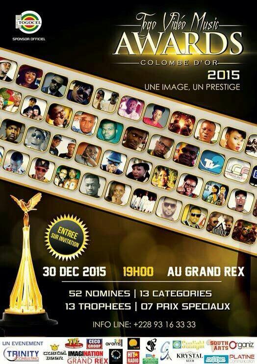 Togo vidéo all music Awards Le 30 décembre 2015