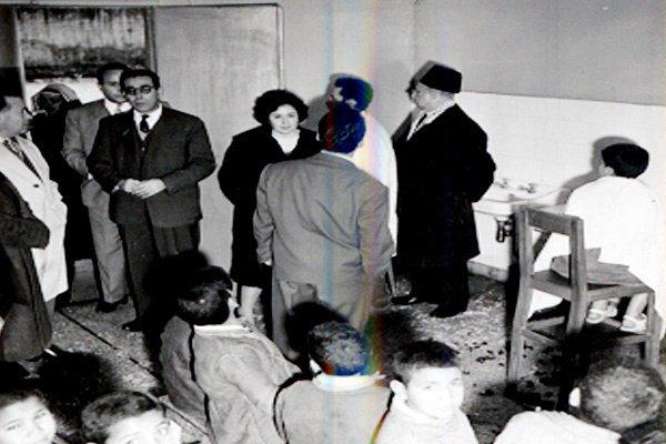 زيارة الاميرة لالة عائشة للمؤسسة سنة 1957