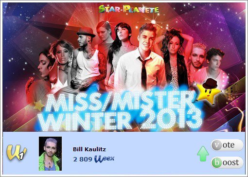 Bill Kaulitz dans Mister Winter 2013 à nouveau.
