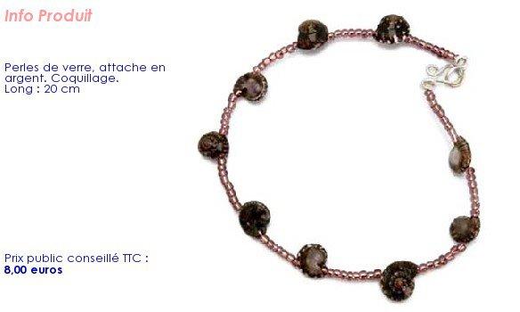magnifique bracelet aux coquillages