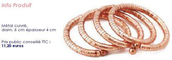 bracelet à spirale cuivre