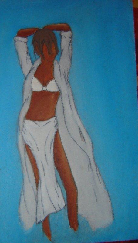 Femme, peinture à l'huile